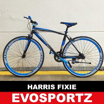Harris Fixie 2703 (Black-Blue) (Blue)