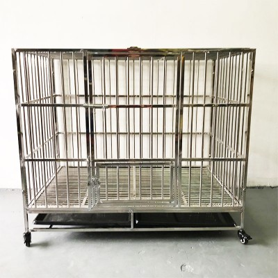 Stainless Steel Dog Cage (110cm x 72cm x 95cm)