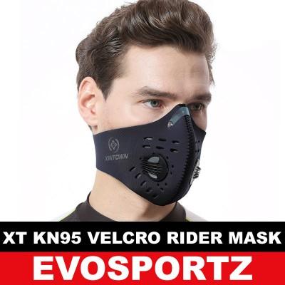 XT KN95 Velcro Rider Mask
