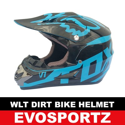 WLT Dirt Bike Helmet (Blue)