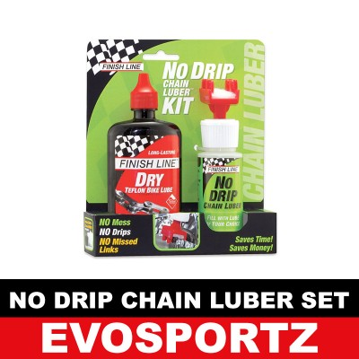 Finish Line No Drip Chain Luber Dry Lube Set