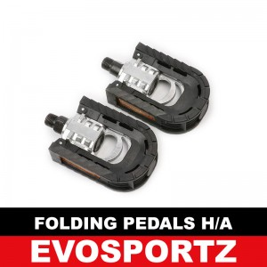 Bicycle Folding Pedals (Half Aluminium)