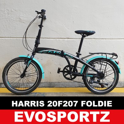 Harris Folding Bike 20F207 (Turquoise)