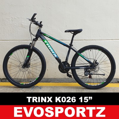 "Trinx K026 Mountain Bike (15"" Black-Green-Blue)"