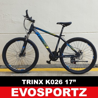 "Trinx K026 Mountain Bike (17"" Black-Blue-Yellow)"