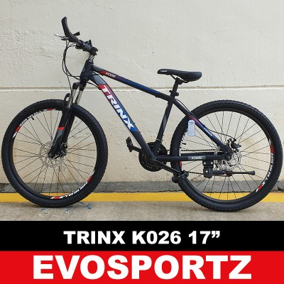 "Trinx K026 Mountain Bike (17"" Black-Red-Blue)"