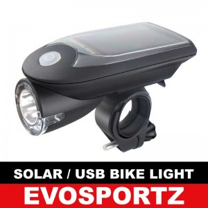 Solar / USB Rechargeable Bike Light