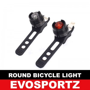 Round Bicycle Light - Metal Casing